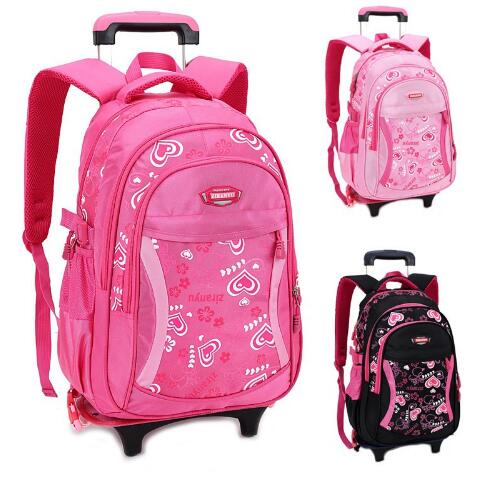 Kid's Travel Rolling luggage Bag School Trolley Backpack 1