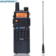 Baofeng UV 5R 3800 mah Walkie Talkie 5 W Dual Band UHF 400 520 MHz VHF 136 174 MHz twee Manier Radio draagbare Walkie Talkie CB Ham radio