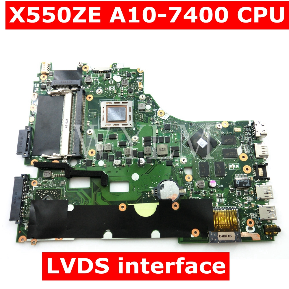 X550ZE With A10-7400 CPU Mainboard For ASUS VM590Z A555Z X555Z X550ZE X550ZA X550Z X550 K550Z K555Z Laptop Motherboard 100% Test