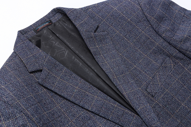 Blazer Men Fashion Brand Clothes For Men Blazer Jacket Single Breasted Casual Business Plaid Male Blazer Men's Slim Fit Suit