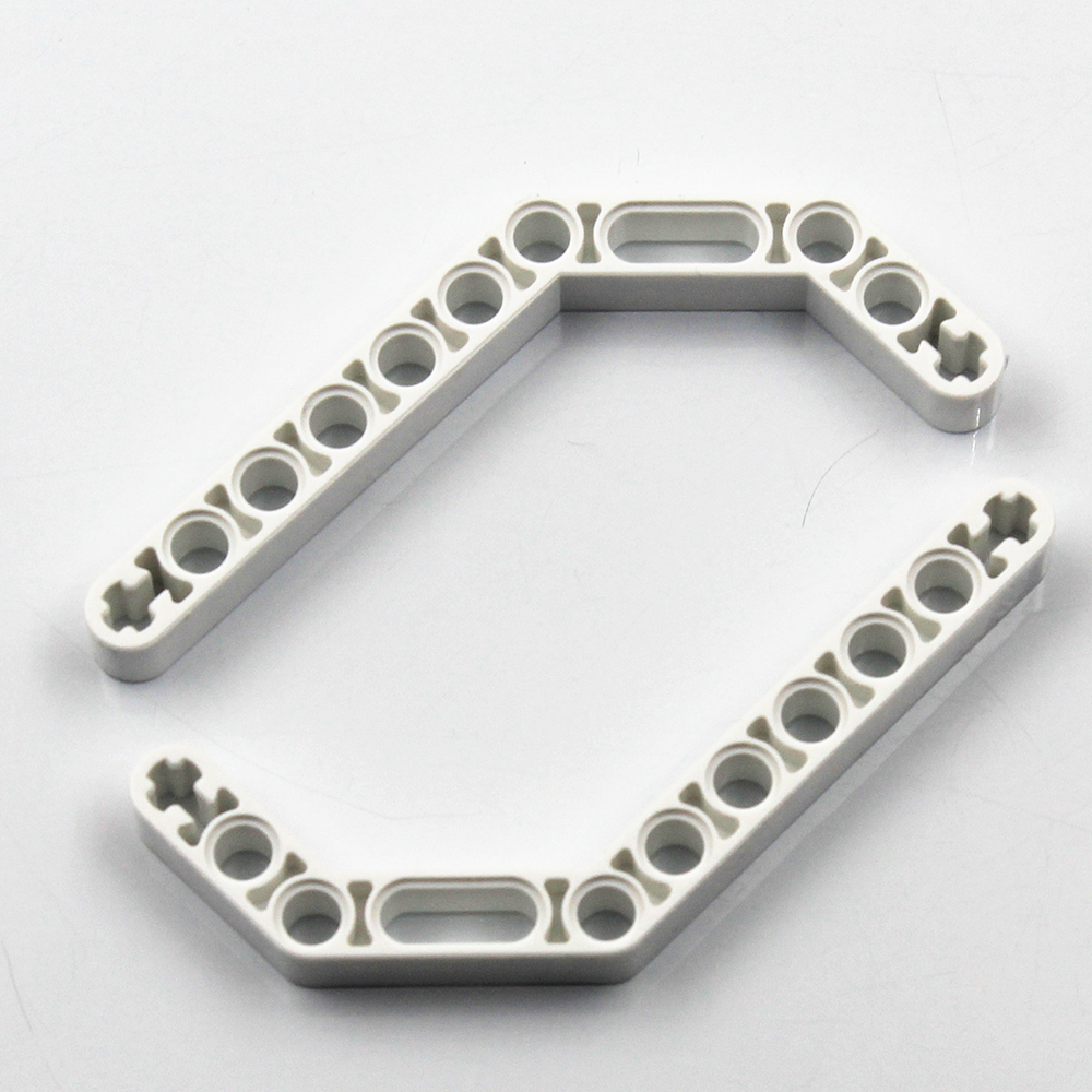 Self-Locking Bricks -- MOC Building Blocks Technic Parts 5PCS/lot DOUBLE ANGULAR BEAM 3X7 45 Degree Angle Compatible With Lego
