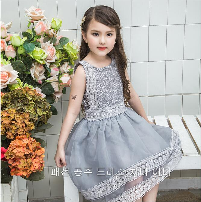 Baby Girls Lace Swallowtail Dress Girl Embroidery Flower Dress 2017 Kids Girls Princess Luxury Party Dress bebe clothes
