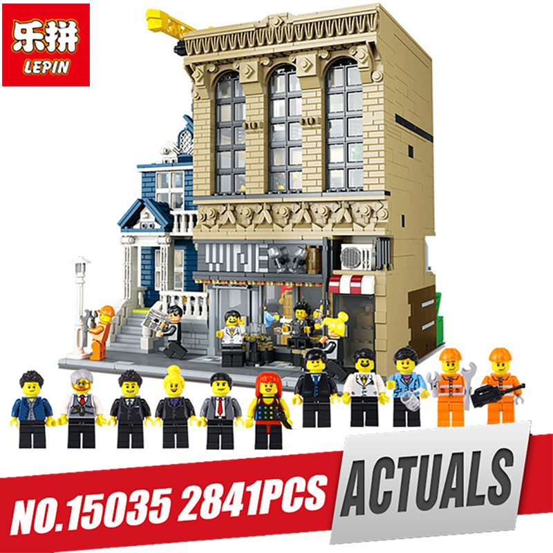 15035 Street View MOC The Bars and Financial Companies Building Blocks 2841Pcs
