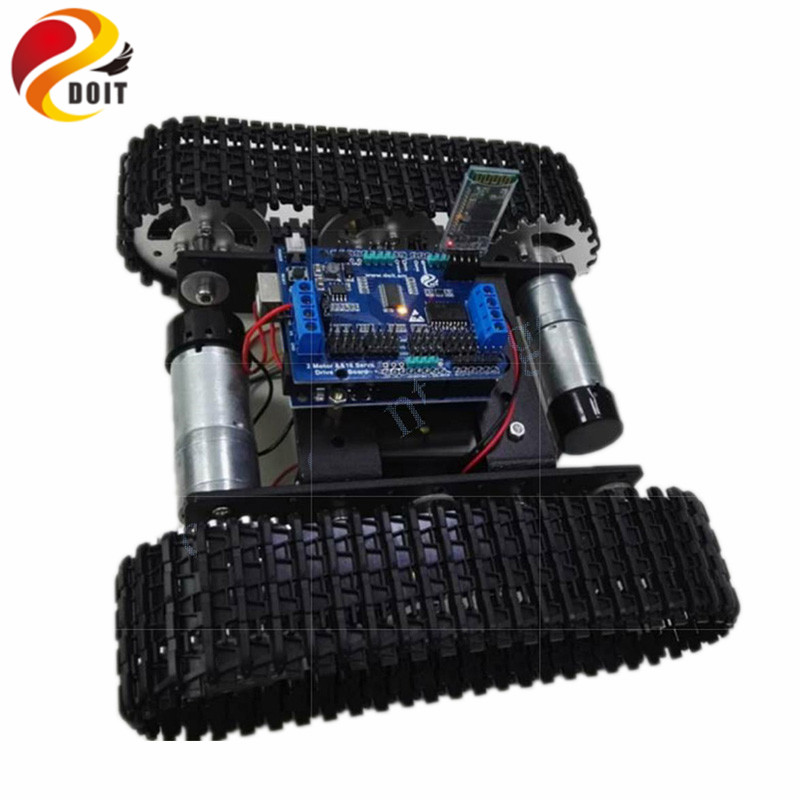 DOIT Bluetooth/WiFi Control Smart Robot Tank Car compatible with Arduino UNO Motor Drive DIY RC Toy Metal Caterpillar chassis цена