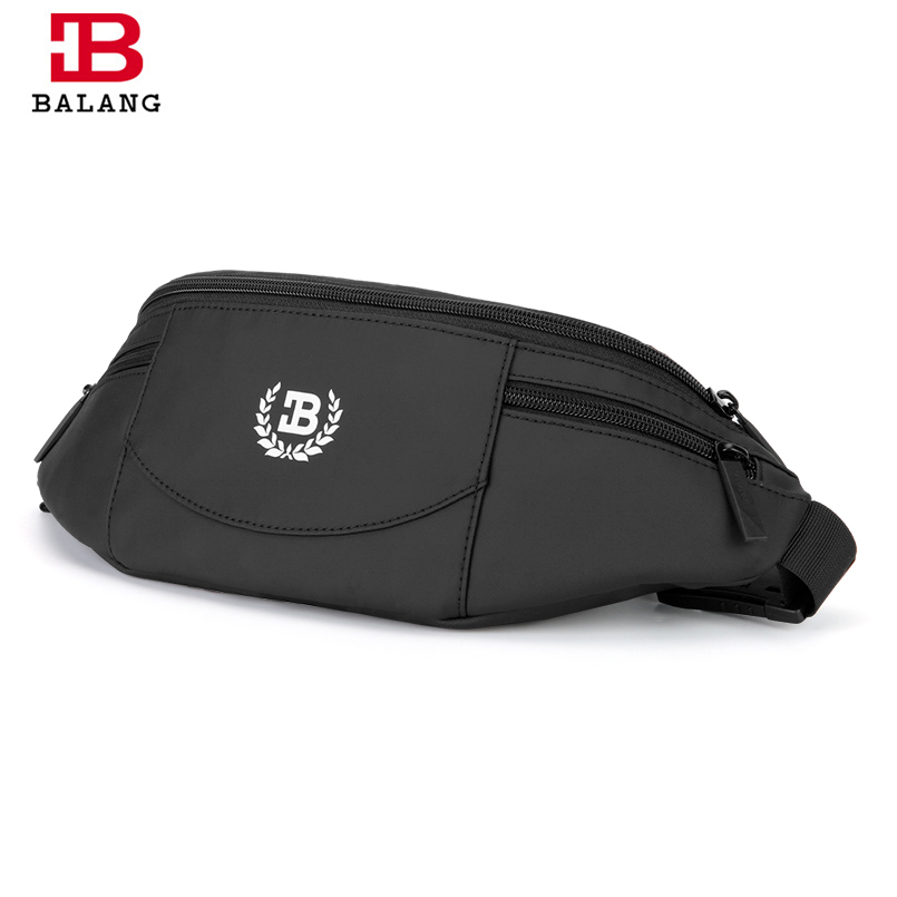 BALANG Brand 2018 Men Black Waterproof Waist Bags for Men Fashion Cigarette Phone Money Belt for Travel Security Wallet Purse