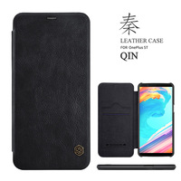 Original Nillkin Qin Series Cell Phone Leather Cases For Oneplus 3 A3000 Luxury Wallet Card Slot