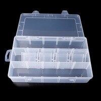 Plastic 15 Grids Electronic Plastic Parts Storage Box Case Organizer Container