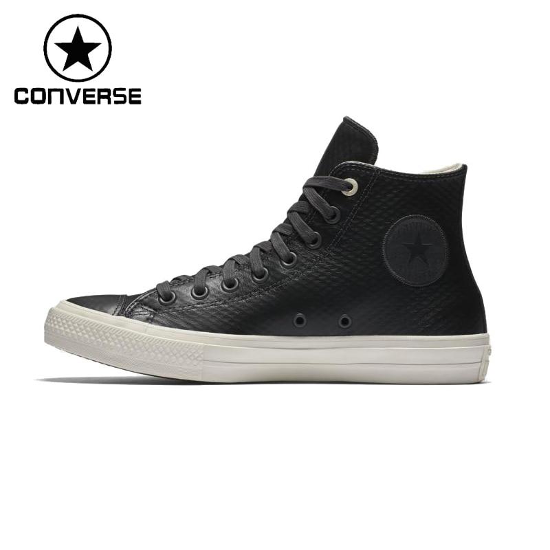 Prix pour Original Nouvelle Arrivée Converse Unisexe Planche À Roulettes En Cuir Chaussures Sneakers