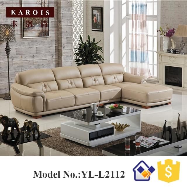 Sofá muebles de la sala moderna americana sofá cama, L forma diseños ...