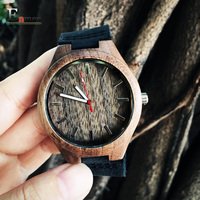 2016 Festival Memorial Day Gift Enmex Luminous Hands Wild Style Bamboo Wristwatch Artistic Handmade Natural Wood