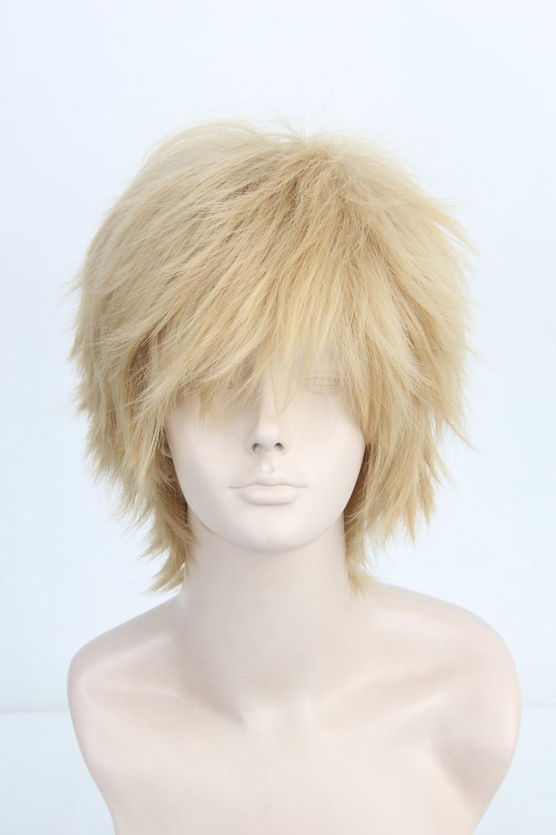 spiky layered light blonde short