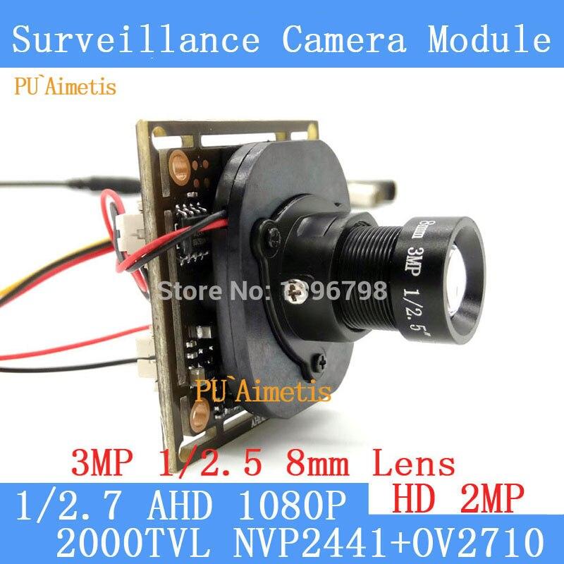 PU Aimetis 2 0MP 1920 1080 AHD 1080P surveillance Camera Module 1 2 7 NVP2441H OV2710
