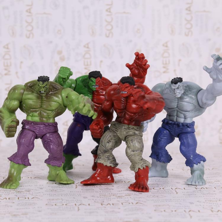 Avengers Superhero Hulk PVC Action Figures Collectible Model Toys 12cm 4pcs/set HRFG432 uncanny avengers volume 4