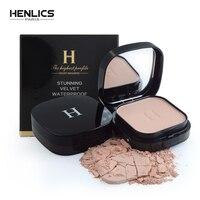 HENLICS контроль масла контур лица компактная пудра макияж полупрозрачная Минеральная отделка фиксирующая Пудра основа Корея Косметика