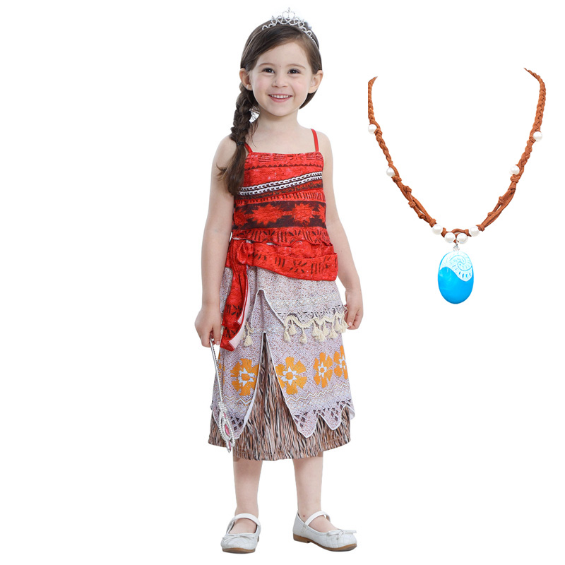 Girls Moana Princess Belle Top Skirts Costumes Cosplay For Children Daily Wear Halloween Party Carnival Fancy Fairy Costume