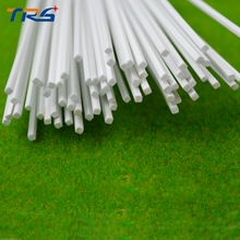scale  ABS smooth square rod,Dia 1.5mm length 50cm Bar for architectural model Layout making materials