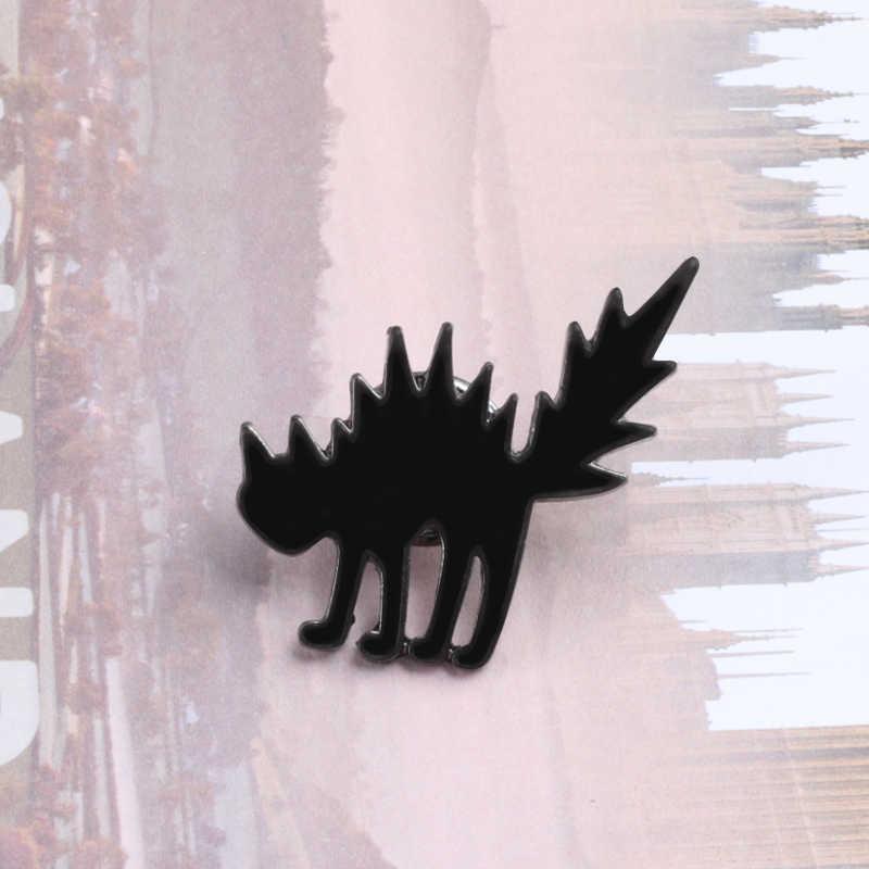 9 стиль кошка панда с изображением утки, лягушки кролик птица шпильки с отворотом для женщин лиса белка животное брошь, ювелирные изделия, аксессуары эмаль шпильки