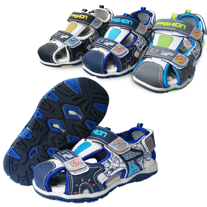 Summer 1pair PU fashion Children Shoes Sandals+inner 16-19.5 cm, Boy Shoes Beach soft shoes, Kid Orthopedic Cheap Shoe