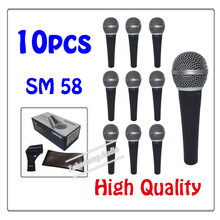 10pcs wholesale High quality SM 58LC Free shipping vocal Karaoke microfone dynamic wired handheld microphone SM 58