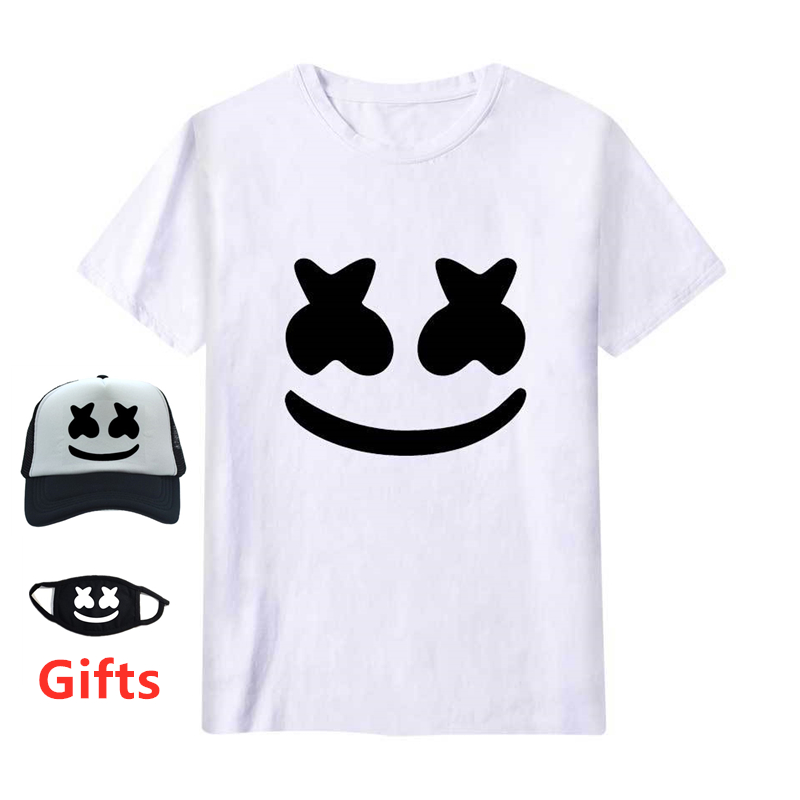 Cap&Mask as gifts men women Marshmallow   t     shirt   boy girl hip hop Rapper Bboy DJ dancer singer cotton tops tees