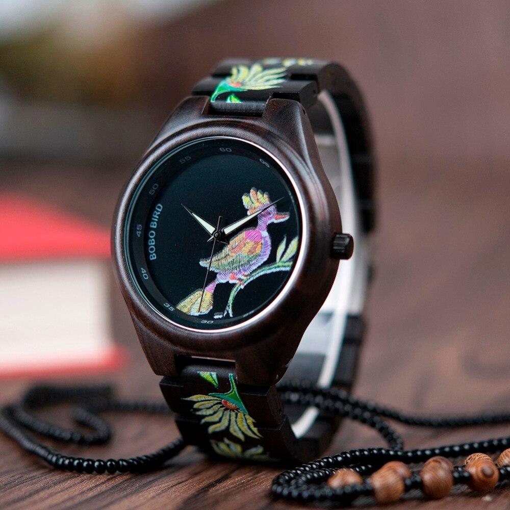 BOBO BIRD LP06 Original Saat With Fashion Embroidery Design Quartz Reloj Hombre Cool Watches Men Women Clocks
