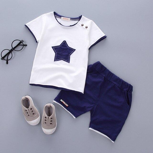 Newborn New Stat Clothing Sets For Baby Boy T-shirt+ Shorts Pants 2 Pcs Clothes Sets