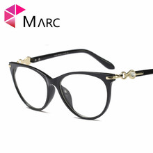 MARC WOMEN 2018NEW Optical Black glasses Plain glass Purple spectacles fashion Glasses Transparent Frame Clear Cat Pink 97544