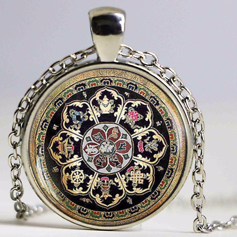 Rose window stained glass notre dame de paris cathedral pendant rose window stained glass notre dame de paris cathedral pendant necklace in pendants from jewelry accessories on aliexpress alibaba group aloadofball Images