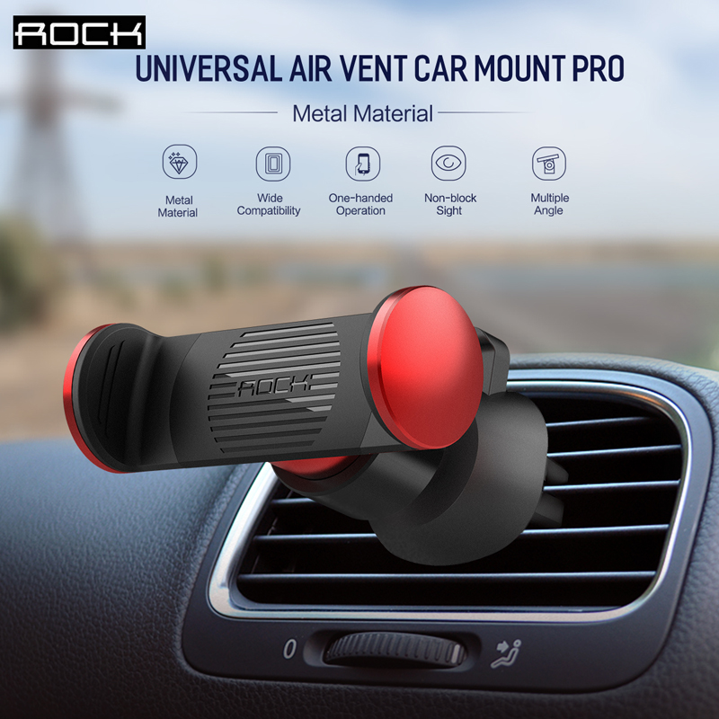 ROCK Universal air vent car mount,Adjustable car phone holder for most smartphones and nagigators(up to 6inch) easy to use new