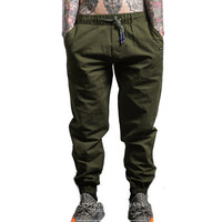 Casual Harem Pants Men Fashion Hip Hop Trousers Jogger Male Full Length Pants Harajuku with Side Pockets Sweatpants Street Wear