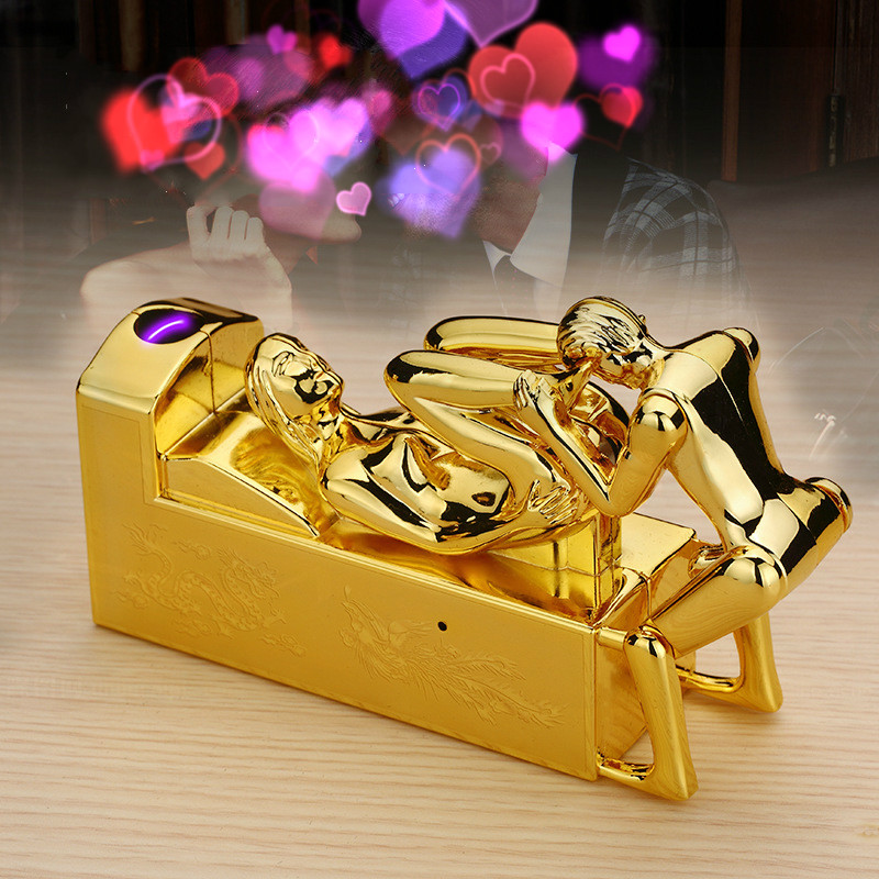 Novelty Arc Lighter Sex Electric USB Charging Lighters Sex Voice Electronic Rechargeable Cigarette Lighter Love Gift mecheros in Cigarette Accessories from Home Garden