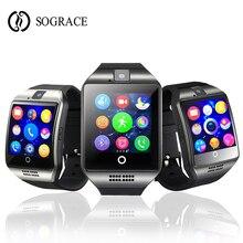 Купить с кэшбэком Smart Watch Q18 With Touch Screen Support SIM TF Card Bluetooth Camera for Android Phone Men Women Sport Smartwatch PK DZ09