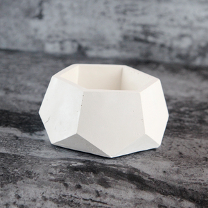 Image 4 - Geometric Concrete Planter Mold  Silicone Mould Handmade Craft Home Decoration Tool