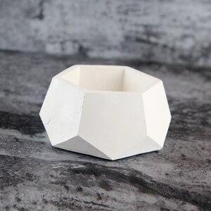 Image 4 - Geometryczne betonowe sadzarki formy silikonowe formy ręcznie dekoracja wnętrz (rękodzieło) narzędzie