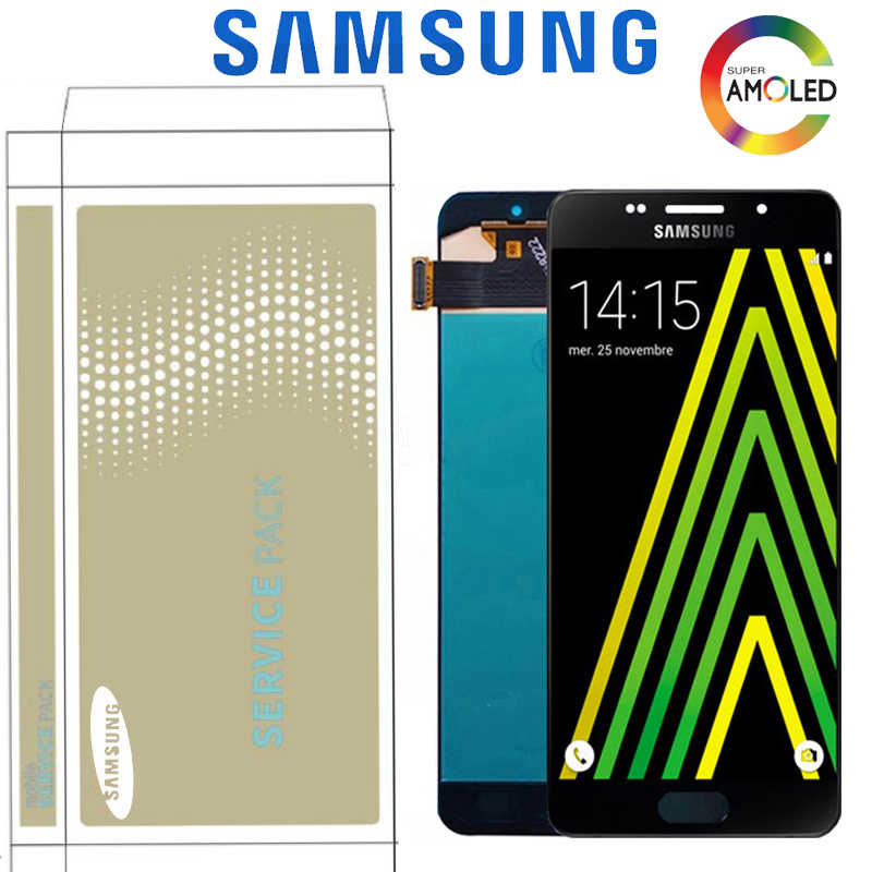 Original 5.2 ''Super AMOLED สำหรับ Samsung Galaxy A5 2016 A510 A510F A510M A510F จอแสดงผล LCD Touch Screen Digitizer Assembly