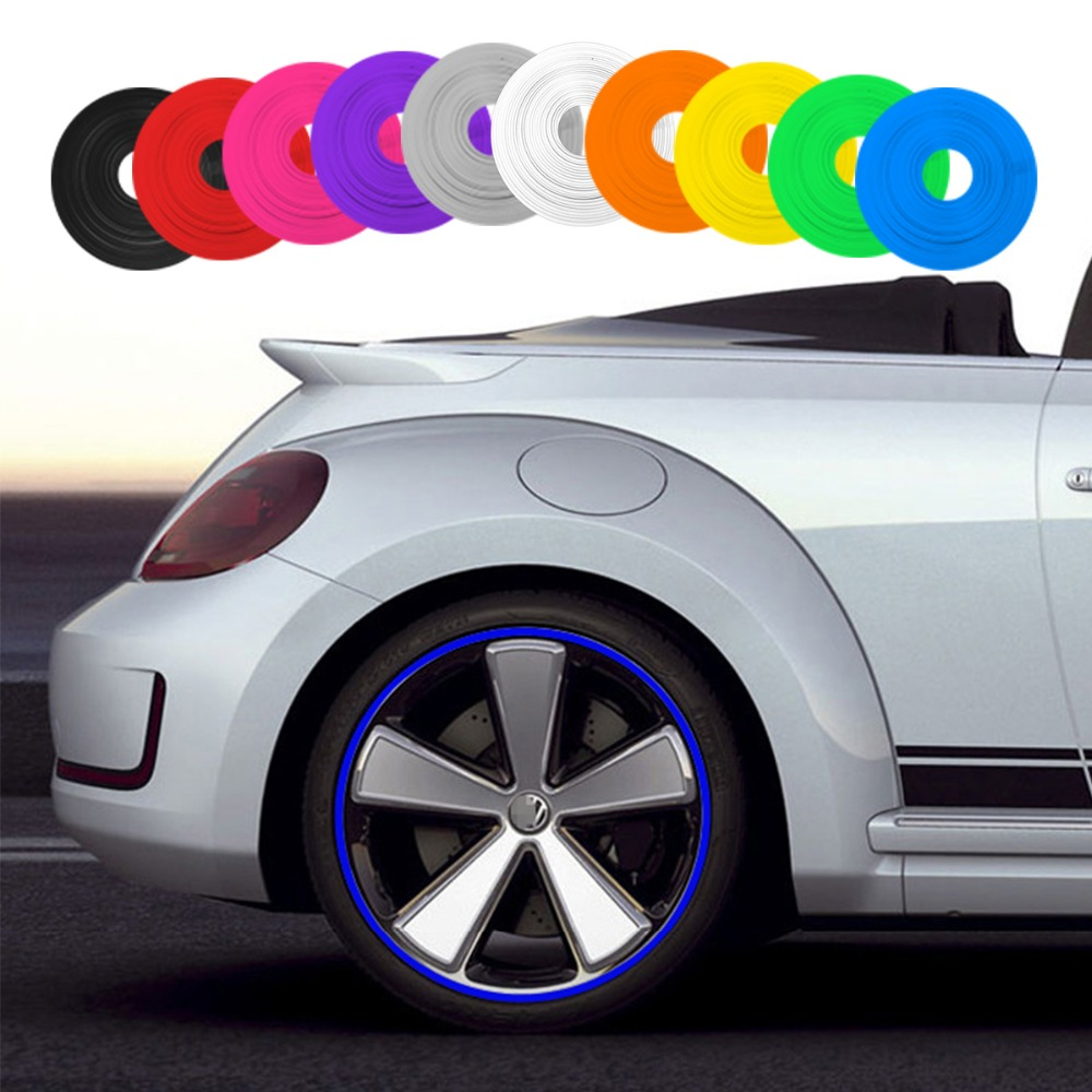 8M/Roll Car Styling Wheel Rims Protector Decor Strip Rubber Moulding Trim IPA Rimblades Car Vehicle Color Tire Guard Line(China)