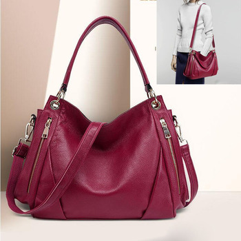 Fashion Ladies Messenger Shoulder Bags for women Totes Genuine Leather Luxury Natural Skin Handbag Design Crossbody Bags