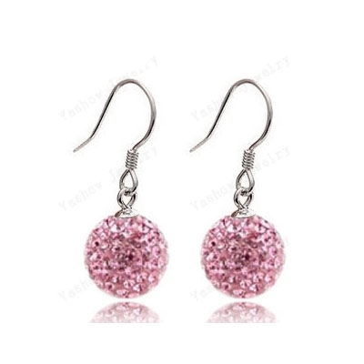 Aliexpress European Style 10MM Crystal Beads Earrings Micro Disco Ball Crystal Drop Earrings For Women Christmas Gift SHER21