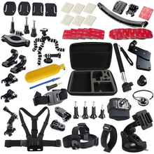 Gopro Accessories Set Helmet Chest Belt Strap tripod Monopod For Gopro Hero 5 4 3+ 3 2 gopro style xiaomi yi sjcam sj4000 GS13