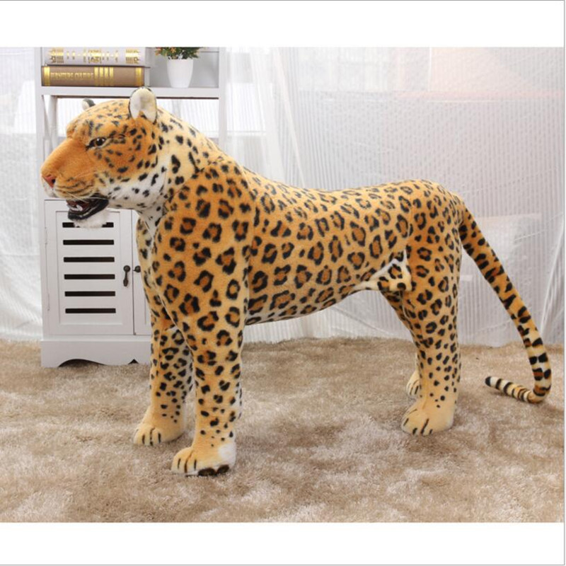 2017 New Big Size 75cm Simulation leopard Plush Toy Artificial animal plush Animal Doll Home Decor Kids Toys Juguetes Brinquedos 45cm big size anime kawaii avatar last airbender appa plush toy soft juguetes stuffed animal brinquedos doll kids toys