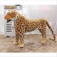 2018 Новинка Большой размер 75 см настоящая жизнь Леопард плюшевая игрушка искусственное животное плюшевое игрушечное животное домашний деко