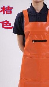 Nanxson TM Mens PU Leather Waterproof Oil Resistance Long Sleeve Working Uniform Overall Butcher Apron CF3016