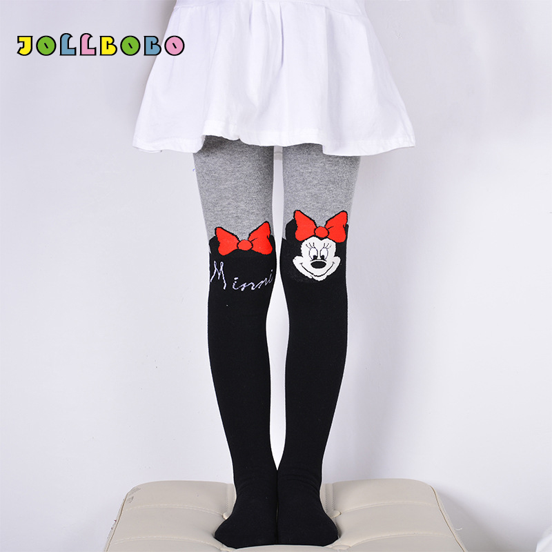 Children Pantyhose Spring Autumn Tights For Girls With Cartoon Cat Patchwork Toddler Girl Cotton Tights Winter For Kids 80-150cm
