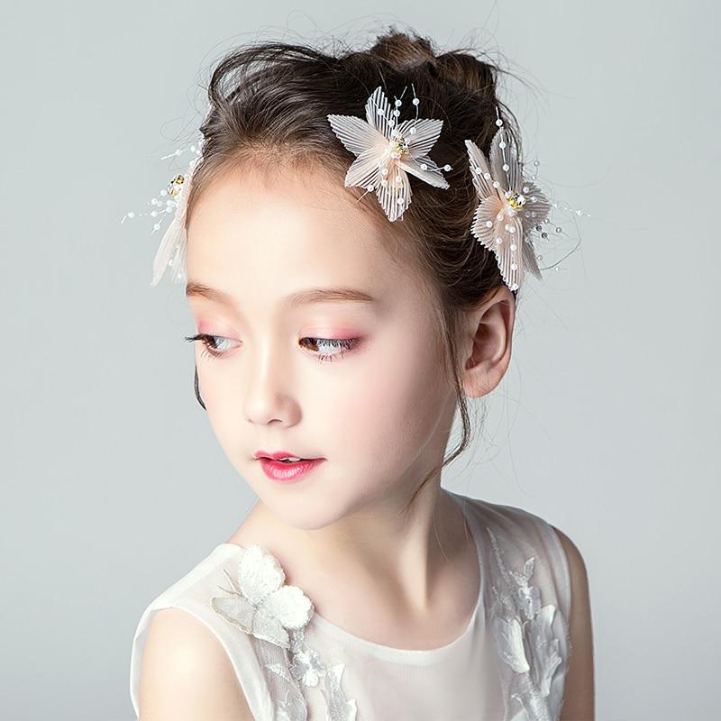 New Product Women Hair Barrette Flower Girl Hair Clips Wedding Hair Accessories Rhinestone Headbands Girls Cute Hair Ornament