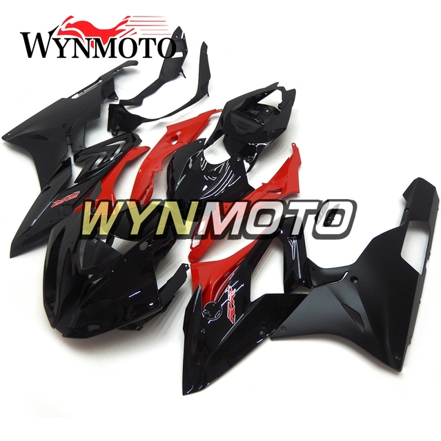 Gloss Black Red Complete Abs Injection Plastics Fairings For Bmw