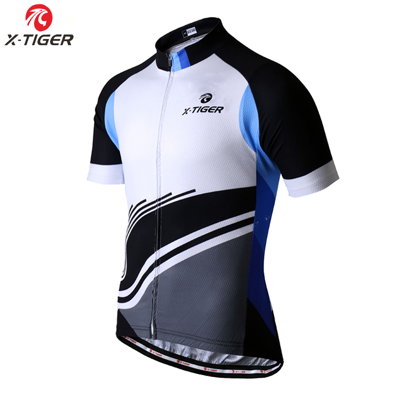 X-TIGER Short Sleeve Cycling Jersey Summer Mountain Bicycle Clothing Maillot Ropa Ciclismo Quick-Dry Summer Bicycle Clothing(China)