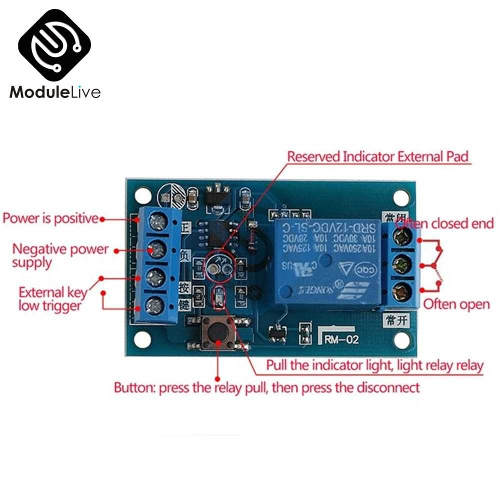 DC 12V  Relay Module Car Bond Bistable Modification Switch Start Stop 828 Promotion Board  Self-Locking New