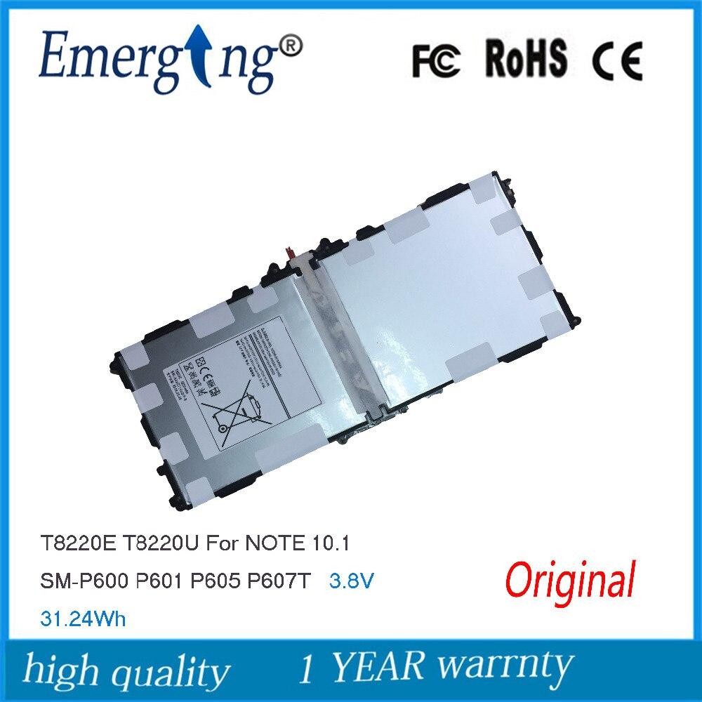 3,8 В 8220 мАч новый оригинальный Батарея для <font><b>samsung</b></font> GALAXY NOTE 10,1 P600 SM-P601 Батарея P601 P605 P607 T520 <font><b>T8220E</b></font> t8220U