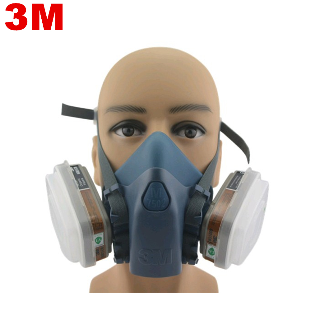 Fire Respirators Steady Industrial Safety 3m7502 Suits Respirator Gas Mask Chemical Mask Spray Chemical Dust Filter Breathe Mask Paint Dust Half Gas