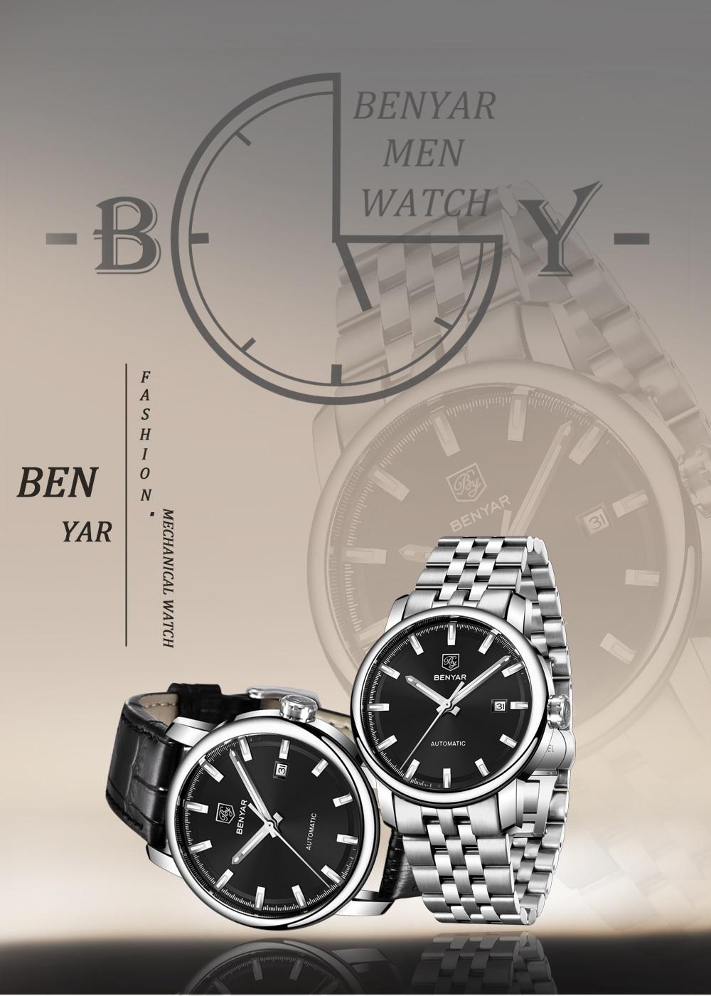 HTB1btp XX67gK0jSZPfq6yhhFXa7 New BENYAR Men's Mechanical Watches Automatic Mens watches Top Brand Luxury watch men WristWatch Military Relogio Masculino 2019